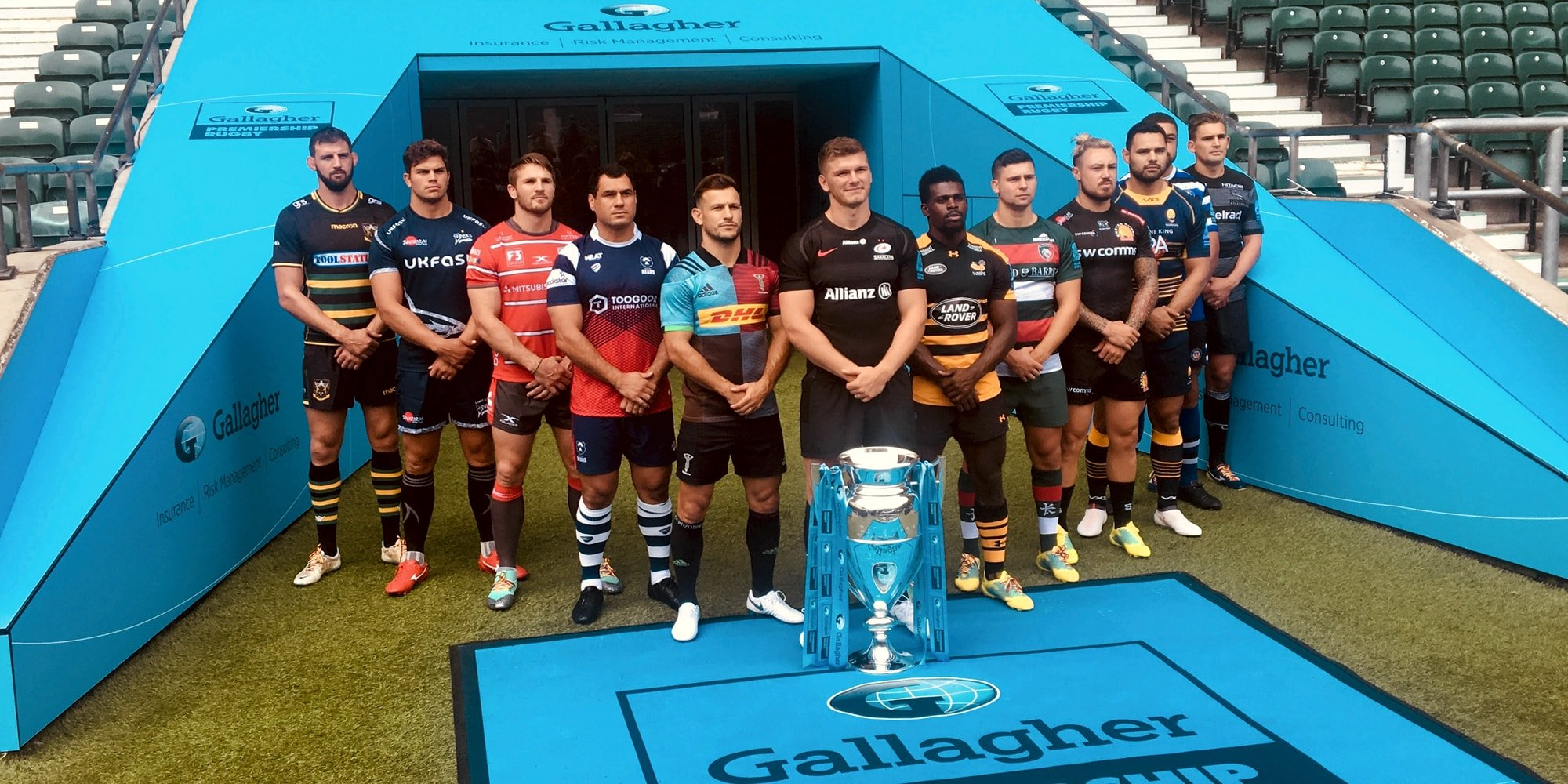 Tunnels & Dressing Rooms Gallagher Premiership Rugby Launch